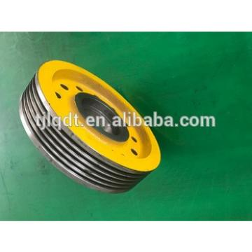 xizi elevator lift traction wheel and cast iron wheels of construction elevator parts