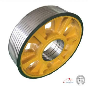 Tonnage2000kg, cast iron wheels elevator traction 540*5*12
