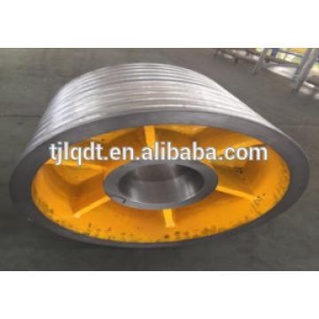 cast iron elevator traction wheel of elevator parts