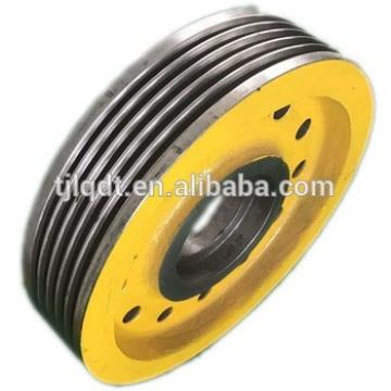 safety and high quality cast iron wheel traction elevator wheel of elevator parts