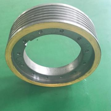 elevator wheel or traction sheave with elevator parts
