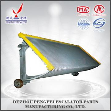 LG step for escalator Aluminum step with yellow border