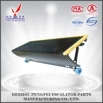 Stainless steel rungs/yellow side escalator parts/step for mitsubishi escalator