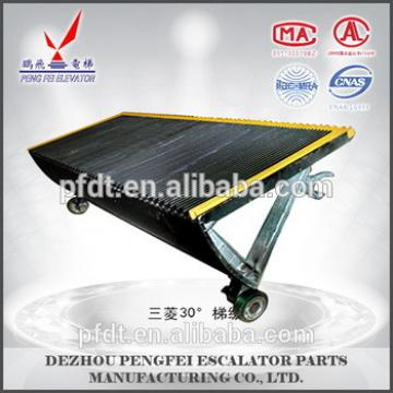 Mitsubishi different angles elevator step for escalator parts