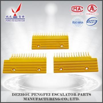 Hyundai Escalator comb plate 16teeth plastic comb plate yellow Elevator spare parts