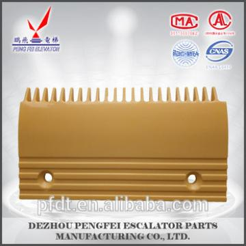Well-made yellow 22-teeth comb plate for elevator spare parts
