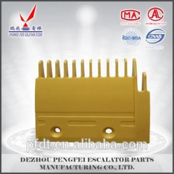 yellow comb plate for Mitsubishi escalator parts for YS125B688