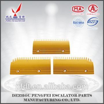 Escalator Yellow Comb Plate 14T For FUJITEC Escalator Parts