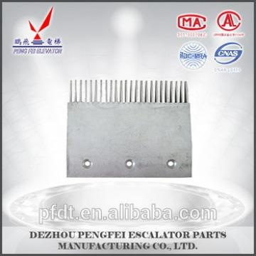 Large size aluminum comb plate for escalator spare parts with sturdy and durable