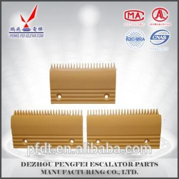 Hitachi 17teeth 19teeth comb plate for escalator parts with low price