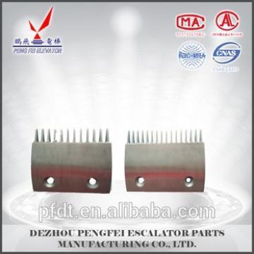12teeth and 16teeth aluminium alloy comb plate for Sigma LG elevator parts