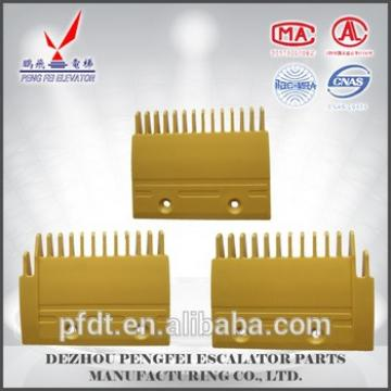 Mitsubishi yellow comb plate with plastic material for elevator parts with superior quality