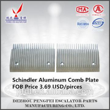 Schindler 22teeth Sidewalk Aluminum Comb Plate with low price and quality assurance