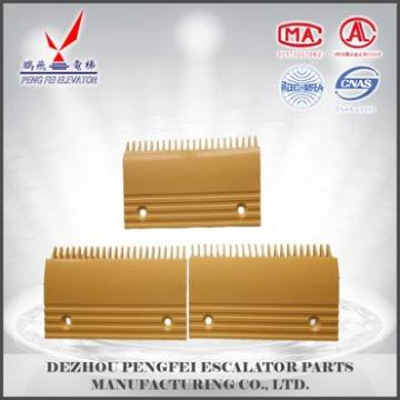22 teeth comb plate escalator spare parts yellow palstic comb plate for famous escalator