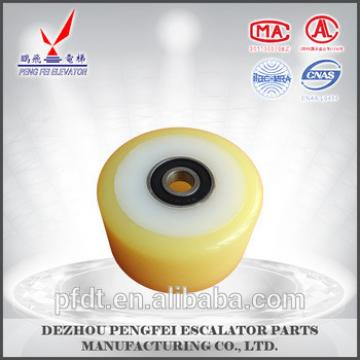 escalator supporting roller with double bearing