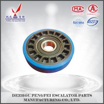 China supplier Mitsubishi prevention of deviation roller/good quality wheel/Mitsubishi escalator square parts