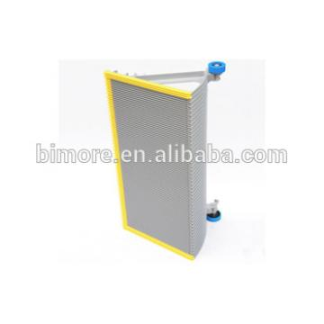 BIMORE XBA455T11 Escalator step with 3 sides yellow plastic demarcations
