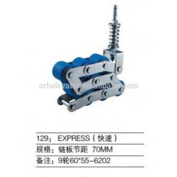 Escalator handrail pressure chain
