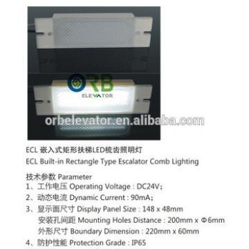 Escalator comb LED lighting