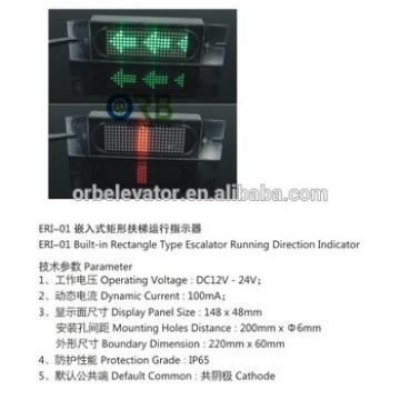 Escalator running direction LED indicator