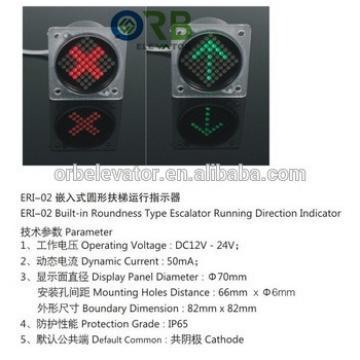 Escalator LED running indicator