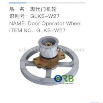 Elevator door operator wheel