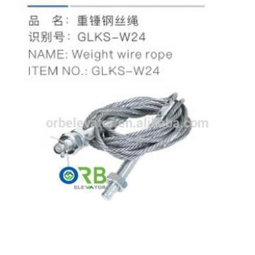 Elevator weight wire rope