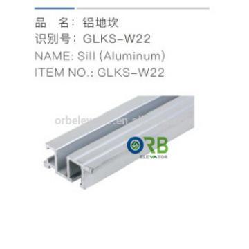 Elevator car sill Aluminum