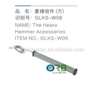 Elevator heavy hammer accessary