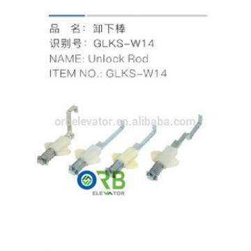 Elevator door operator unlock rod