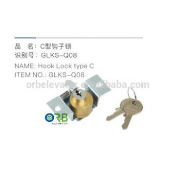 Elevator door hook lock type C
