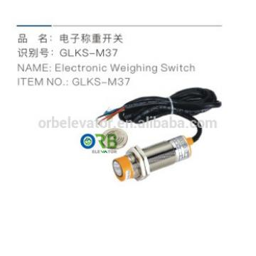 Elevator electronic weighing switch