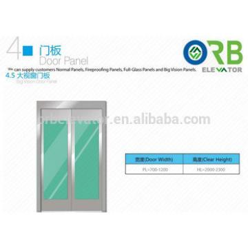 Elevator door panel big vision glass door panel