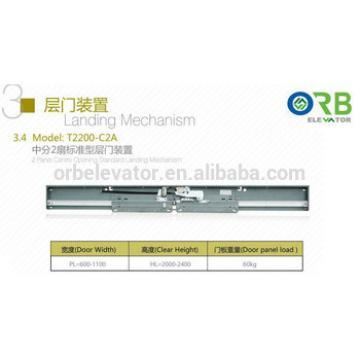 Fermator type elevator landing mechanism, landing door hanger, lift door mechanism