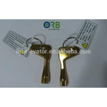 Elevator Triangular emergency key, door key lock, key switch