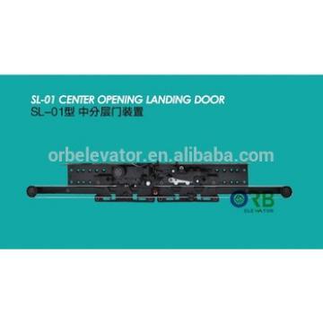 Selcom landing door hanger, elevator door mechanism
